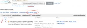Search history: saving a search alert