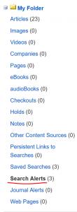 find search alert in folder