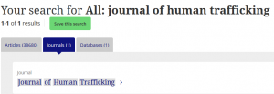 Taylor & Francis search results for journal title
