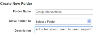 Create a New Folder with name and description