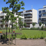housing complex green space